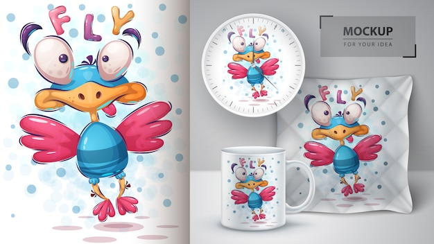 Fly bird poster e merchandising