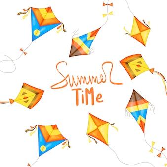 Flyer, banner para a venda de verão.