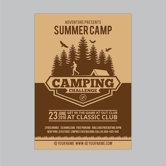 Flyer de acampamento