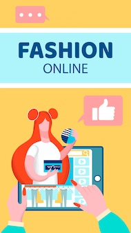 Flyer de blog de vídeo de moda