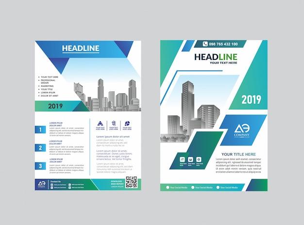 Flyer de brochura de layout de capa criativa para evento