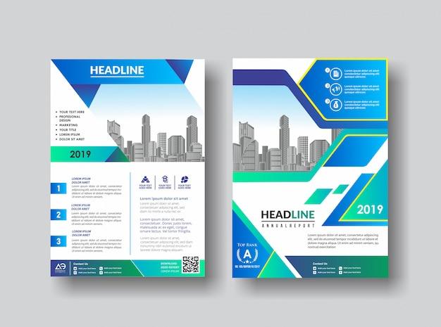 Flyer de catálogo folheto de layout de capa simples para plano de fundo