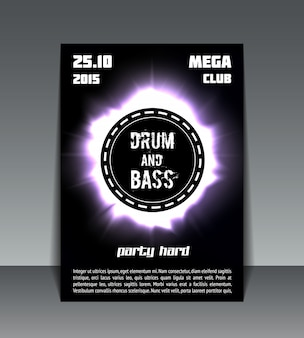 Flyer de festa drum and bass
