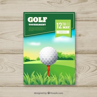 Flyer de golfe com bola