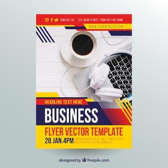Flyer de negócios abstrato