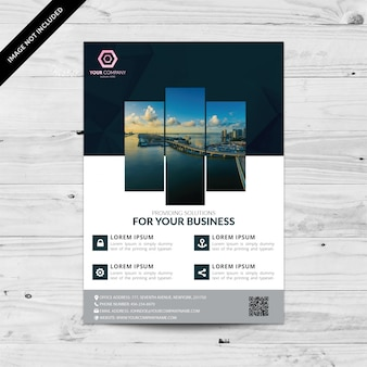 Flyer de negócios geométrico