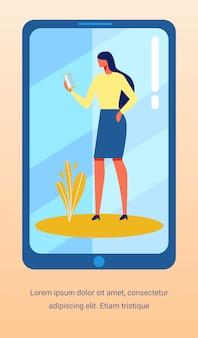 Flyer de publicidade com mulher conversando social media