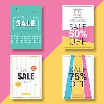 Flyer de venda design plano & modelo de banner de propaganda