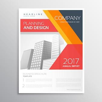 Flyer design da empresa com formas geométricas coloridas