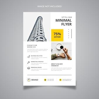Flyer empresarial elegante