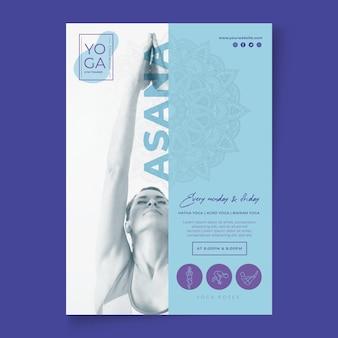 Flyer modelo de aulas de ioga