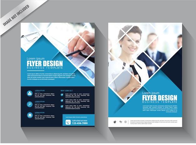Flyer modelo de negócios design de relatório anual