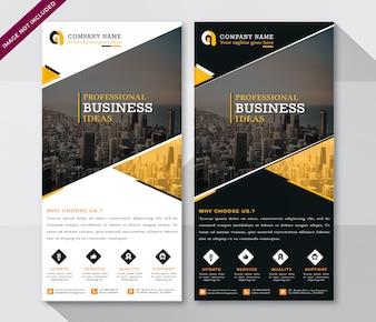 Flyer moderno para negócios corporativos