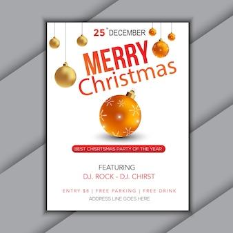 Flyer para banner de fundo de venda de natal