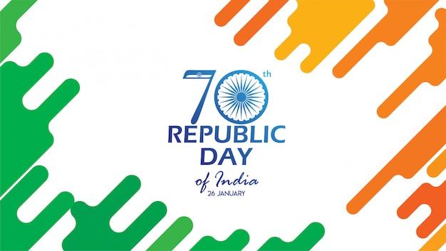 Flyer para o dia da república da índia