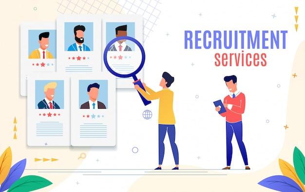 Flyer publicitário é o serviço de recrutamento escrito.