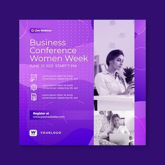 Flyer quadrado de empresária