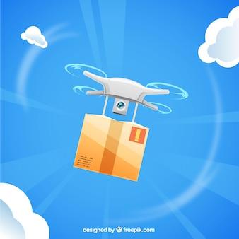 Flyone voador com caixa