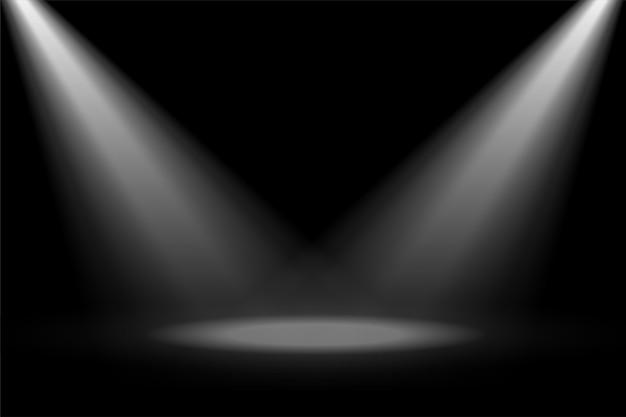 Foco de destaque do palco abstrato