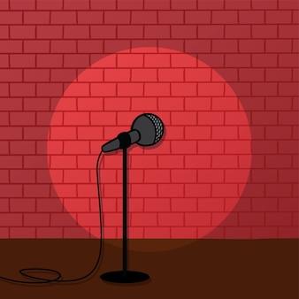 Foco de tijolos vermelhos levantar-se estágio de comédia