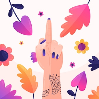 Foda-se símbolo floral