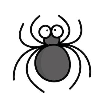 Fofa aranha engraçada. inseto. ilustração do estilo doodle