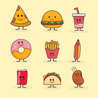 Fofo personagem de fast food