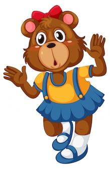 Fofo urso em pé