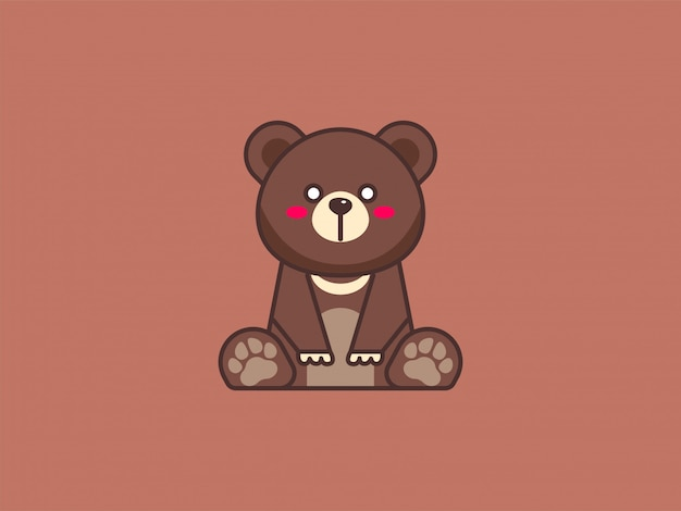 Fofo urso pardo ilustração