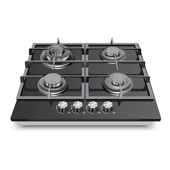 Fogão a gás com fogão de cozinha