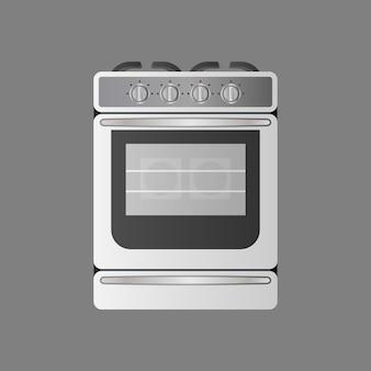 Fogão de estilo realista. forno moderno para a cozinha. isolado