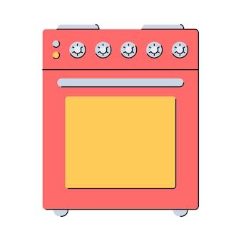Fogão elétrico. utensílios de cozinha. estilo simples. ilustração isolada do vetor no fundo branco.