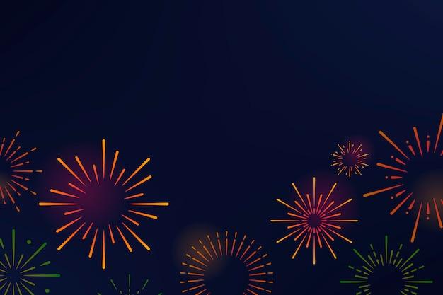Fogo de artifício explosões fundo projeto vector