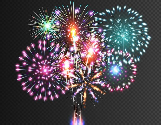 Fogo de artifício festivo.