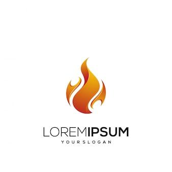 Fogo de design de logotipo