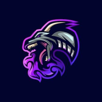 Fogo de dragão de ícone de logotipo