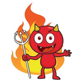 Fogo menino diabo