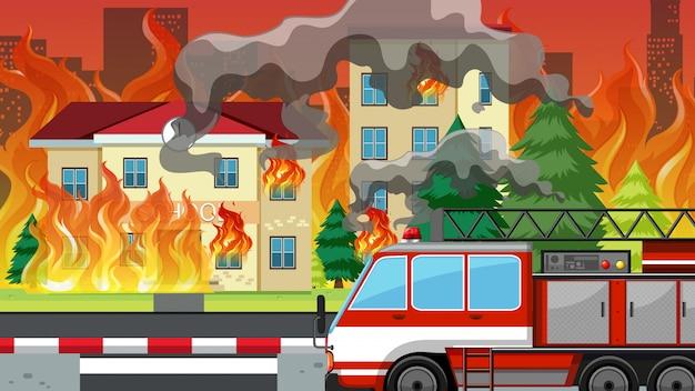 Fogo no vilarejo