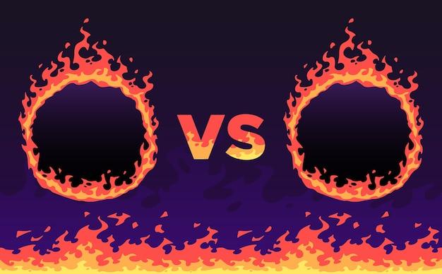 Fogo versus quadro