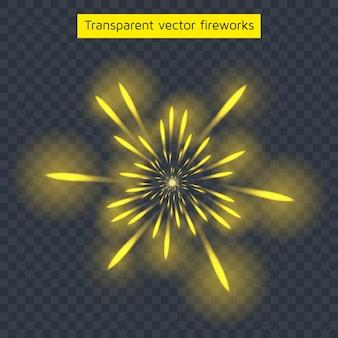 Fogos de artifício amarelos
