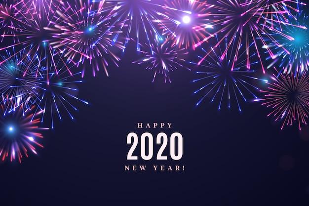 Fogos de artifício ano novo 2020 fundo
