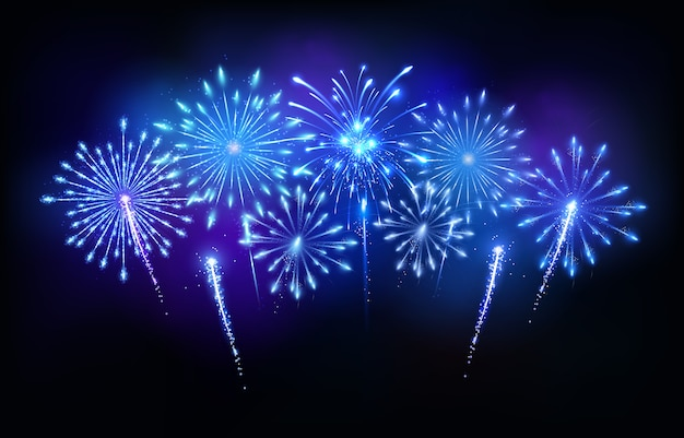 Fogos de artifício azuis