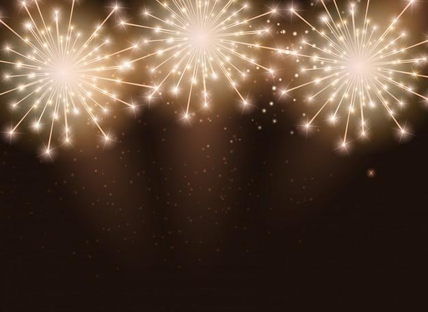 Fogos de artifício brilhantes