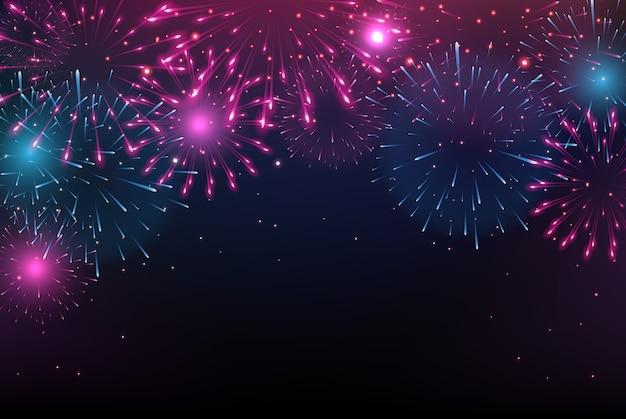 Fogos de artifício coloridos brilhantes