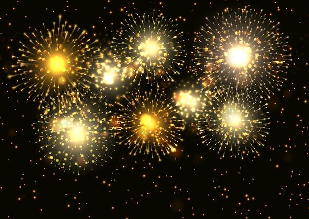 Fogos de artifício dourados