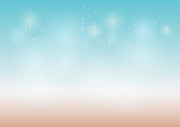 Fogos de artifício e bokeh no dia de ano novo e copie o espaço. fundo abstrato de férias