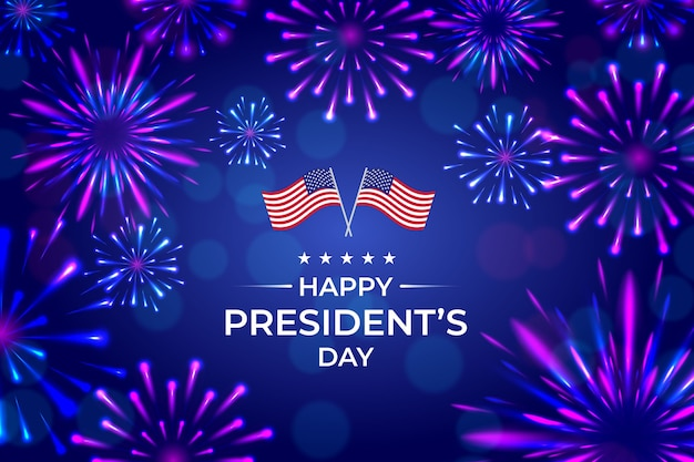 Fogos de artifício para a celebração do dia do presidente