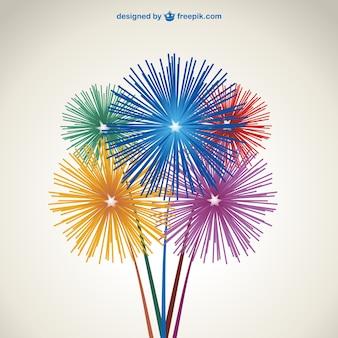 Fogos de artifício vector download livre