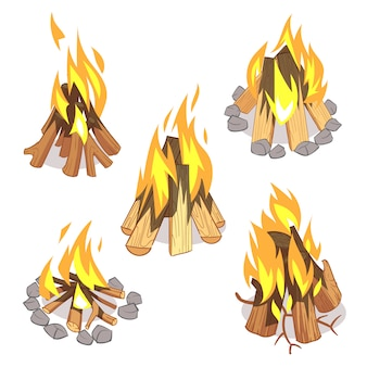 Fogueira ao ar livre da fogueira