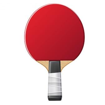 Foguete de tênis de mesa realista de vetor, ping pong